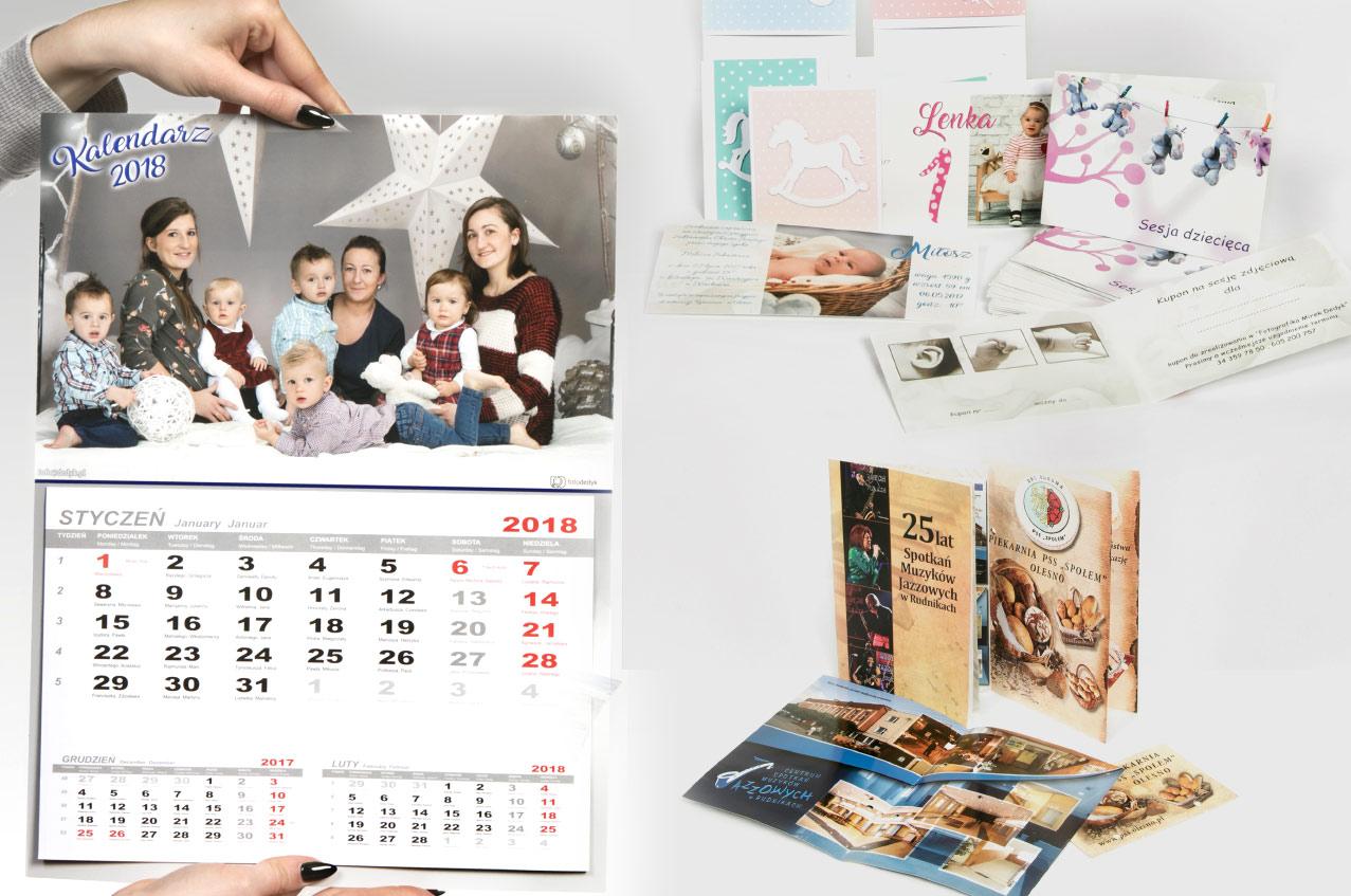 Kalendarze, foldery plakaty